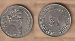 SINGAPUR 1 Dollar 1968  Copper-nickel • 16.85 G • ⌀ 33.32 Mm KM# 6 - Singapore