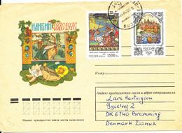 Russia Cover Sent To Denmark 3-3-1998 - Storia Postale