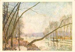 Art - Peinture - Alfred Sisley - Bords De La Seine En Automne - CPM - Voir Scans Recto-Verso - Pittura & Quadri