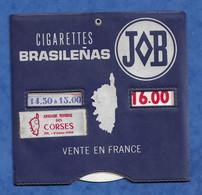 Automobile - Disque De Stationnement - Annuaire Mondial Des Corse Pub Cigarettes Brasilenas Bastos Papier JOB - Coches