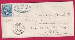 N°22 GC 4210 VIGY MOSELLE POUR METZ INDICE 12 - 1849-1876: Période Classique