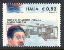 Varietà - 2003 Caproni Con Dentellatura Fortemente Spostata E Doppia Stampa Del Viso Dell'aviatore. MNH** - Varietà E Curiosità
