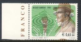 Varietà - 2007 Nicolò Carosio Bordo Foglio Con Doppia Stampa. MNH** - Varietà E Curiosità