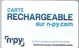 TICKET²-2010-N-PY-8 Stations Pyrennees--DE SKI PASSI-Plastic Epais-TBE - Altri