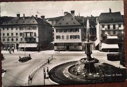 Cpsm, écrite En 1952, La Chaux De Fonds, La Fontaine Monumentale, Commerces, éd Sartori SUISSE NEUCHATEL - NE Neuchâtel