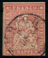 SCHWEIZ STRUBEL Nr 15IIBym Gestempelt X74471A - Used Stamps