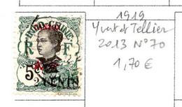 Colonies Françaises Canton 1919 N°70  0,30 €  (cote 1,70 € 1 Valeur) - Gebraucht