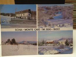 Cartolina Schia Frazione Di Tizzano Val Parma ,Monte Caio  Provincia Parma Paesaggio Innevato Vedutine - Parma