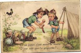 Illustrateur Humour Et ça Fiston ,c'est Aussi La Souris D*hier Soir Qui L'a Grignotée ? RV - Scoutisme