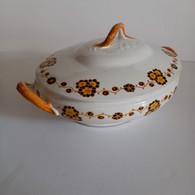 Soupière Céramique  Décor Fleurs, Boch Frères - Soup Terrines