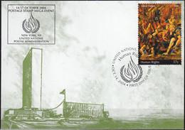 UNO NEW YORK 2004 Mi-Nr. 76 Grüne Karte - Show Card  Mit Erinnerungsstempel New York - Briefe U. Dokumente