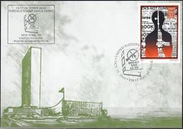 UNO NEW YORK 2004 Mi-Nr. 77 Grüne Karte - Show Card  Mit Erinnerungsstempel New York - Briefe U. Dokumente