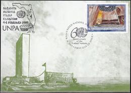 UNO NEW YORK 2005 Mi-Nr. 78 Grüne Karte - Show Card  Mit Erinnerungsstempel Sarasota - Briefe U. Dokumente