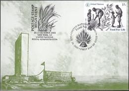 UNO NEW YORK 2005 Mi-Nr. 82 Grüne Karte - Show Card  Mit Erinnerungsstempel New York - Briefe U. Dokumente