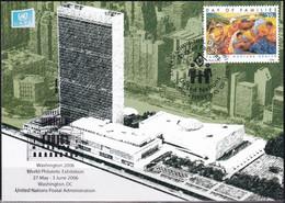 UNO NEW YORK 2006 Mi-Nr. 84 Grüne Karte - Show Card  Mit Erinnerungsstempel Washington - Briefe U. Dokumente