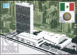 UNO NEW YORK 2006 Mi-Nr. Grüne Karte - Show Card  Mit Erinnerungsstempel New York - Briefe U. Dokumente
