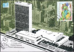 UNO NEW YORK 2007 Mi-Nr. Grüne Karte - Show Card  Mit Erinnerungsstempel McLean - Briefe U. Dokumente