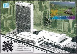 UNO NEW YORK 2007 Mi-Nr. Grüne Karte - Show Card  Mit Erinnerungsstempel Portland - Briefe U. Dokumente