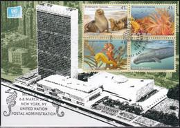 UNO NEW YORK 2008 Mi-Nr. Grüne Karte - Show Card  Mit Erinnerungsstempel New York - Briefe U. Dokumente
