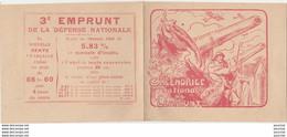 X21- PETIT CALENDRIER NATIONAL DE L'EMPRUNT 1918 - ILLUSTRATEUR V. PROUVEL - FORMAT FERMÉ 10 X 12 - 2 SCANS - GUERRE WW1 - Documents
