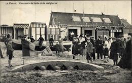 CPA La Panne Westflandern, Concours De Forts Et De Sculptures - Andere