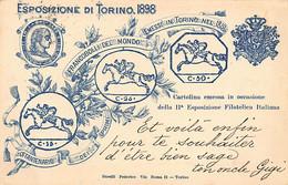 TORINO - Iia Esposizione Filatelica Italiana 1898 - Francobolli Del Mondo - Ohne Zuordnung
