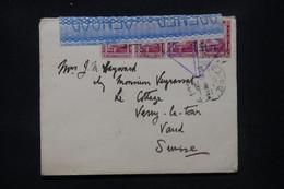 EGYPTE - Enveloppe Du Caire Pour  La Suisse En 1919 Avec Contrôle Postal - L 107523 - 1915-1921 British Protectorate