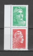 FRANCE / 2021 / Y&T N° 5496 & 5253A ** Se Tenant : Gandon 1.08 € + YZ TVP LP Philaposte (du Carnet C1528) X 1 - Unused Stamps