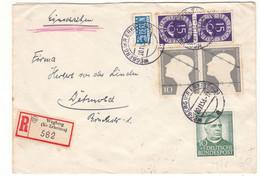Allemagne - République Fédérale - Lettre Recom De 1953 - Oblit Wegberg - Prisonniers - Cachet De Detmold - Valeur 15 € + - Lettres & Documents