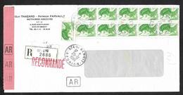 FRANCE  1986 - Y&T  2423 -  Liberté A Sur Lettre De La Réunion - 1961-....