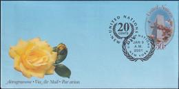 UNO NEW YORK 2001 Mi-Nr. LF 17 Ganzsache Luftpostfaltbrief Gestempelt EST - Luftpost