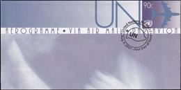 UNO NEW YORK 2007 Mi-Nr. LF 21 Ganzsache Luftpostfaltbrief Gestempelt EST - Luftpost