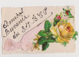 Cpa Fantaisie Avec Découpis ( Rose ) .Amical Souvenir Du 31è BCP (Bataillon De Chasseurs à Pied ) - Regiments