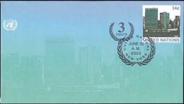UNO NEW YORK 2002 Mi-Nr. U 14 A Ganzsache Umschlag Gestempelt EST - Briefe U. Dokumente