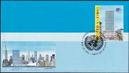 UNO NEW YORK 2003 Mi-Nr. U 15 A Ganzsache Umschlag Gestempelt EST - Briefe U. Dokumente