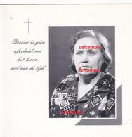 Doodsprentje Jeanne Plasskaert Sens 1911en Overleden Te Oostende 2003 Vanhooren Charles Berten Beyen - Santini