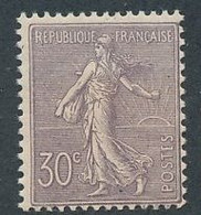 ED-:86 FRANCE: Lot Avec N°133* (froissures Verso) - 1903-60 Semeuse A Righe