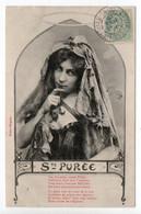 BERGERET - Ste PURÉE - WOMAN - USED 1908 ? - FRANCE - Bergeret