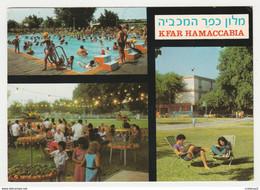 Israel KFAR HAMACCABIA Hôtel En 3 Vues N°12708 Piscine Baignade VOIR Timbres En 1977 - Israele