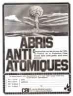 "PUB ""  ABRI ANTI-ATOMIQUE   ""   1980 - Altri"
