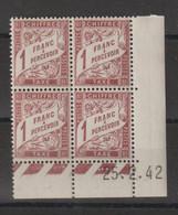 France Coin Daté 1942 Taxe 40A  ** MNH - Portomarken