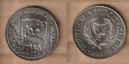 CHIPRE  1 Pound (WWF) 1986 Copper-nickel • 28.28 G • ⌀ 38.61 Mm KM# 59 - Chipre