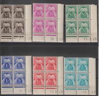 France Série Taxe 67 à 77, 11 Val En Coins Datés ** MNH - Portomarken
