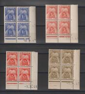 France Série Taxe 81,83 86 Et 87, 4 Val En Coins Datés ** MNH - Portomarken
