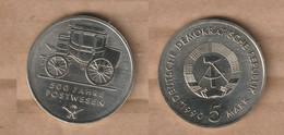 ALEMANIA  5 Mark (500 Years Mail Services) 1990 Nickel Brass • 9.6 G • ⌀ 29 Mm KM# 134, - 5 Mark