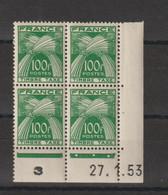 France Coin Daté 1953 Taxe 89  ** MNH - Portomarken