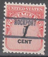 USA Precancel Vorausentwertungen Preos, Locals Indiana, Rockport 853 - Vorausentwertungen