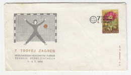 International Women's Handball Tournament 1969 7th Zagreb Trophy Illustrated Letter Cover B211001 - Pallamano