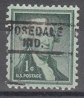USA Precancel Vorausentwertungen Preos, Locals Indiana, Rosedale 729 - Vorausentwertungen