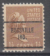 USA Precancel Vorausentwertungen Preos, Locals Indiana, Rossville 704 - Precancels